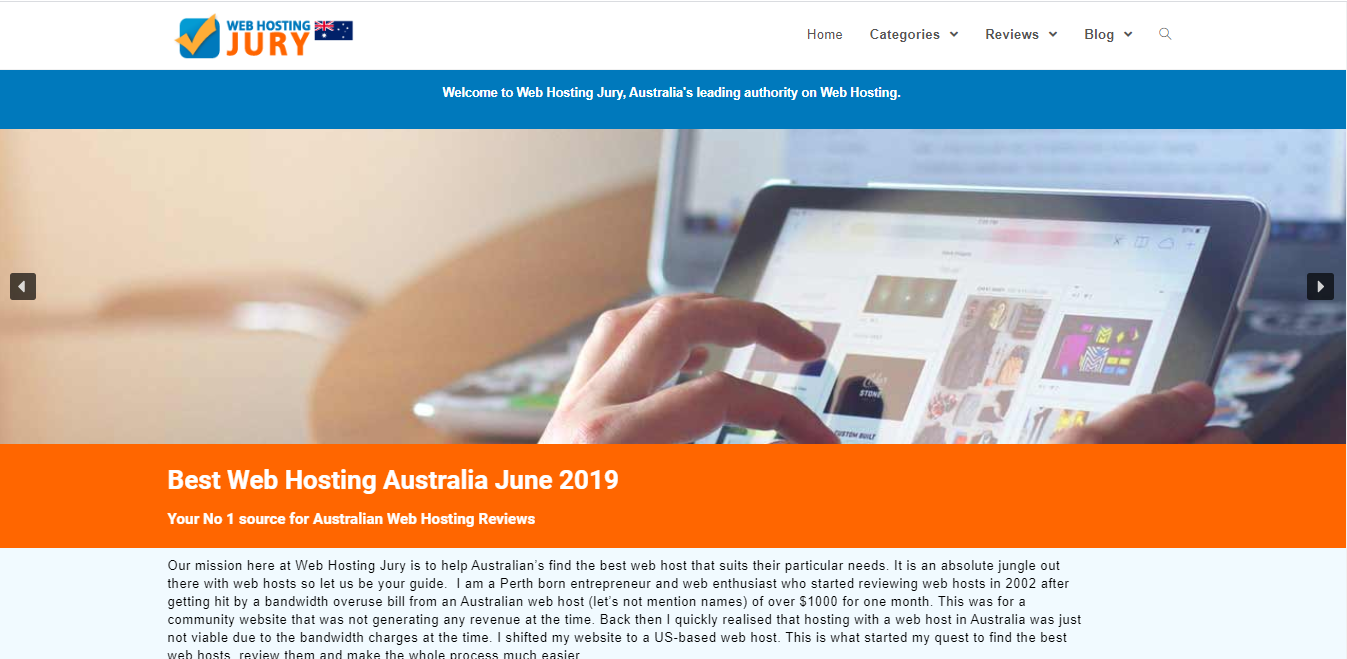 RiseVal Infotech Web Solution to Australia based Web hosting review site